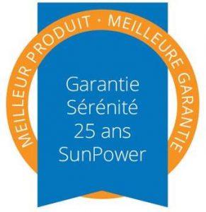 Sunpower Garantie sérénité 25 ans